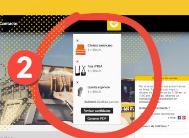 Genera tu cotización en PDF
